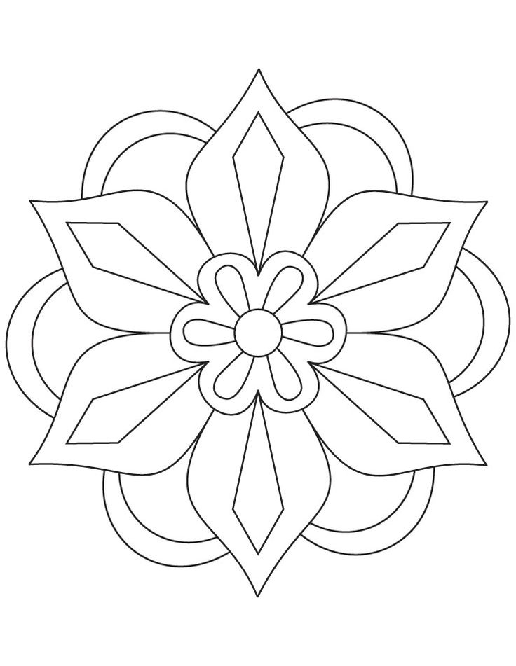 27 Rangoli Coloring Pages Collections