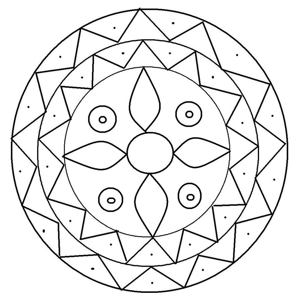 rangoli coloring pages - rangoli coloring pages
