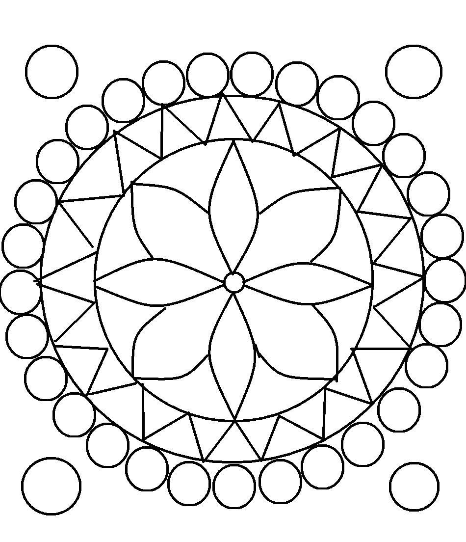 Rangoli Coloring Pages - Free Printable Rangoli Coloring Pages for Kids