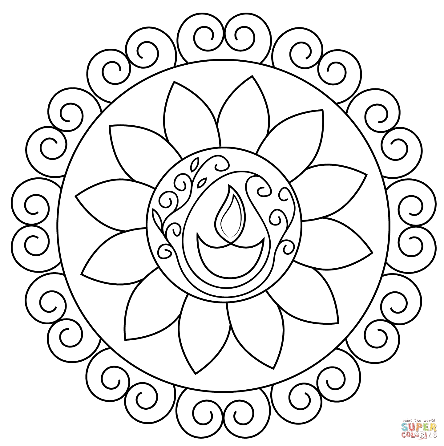 rangoli coloring pages - peacock rangoli coloring sheets sketch templates