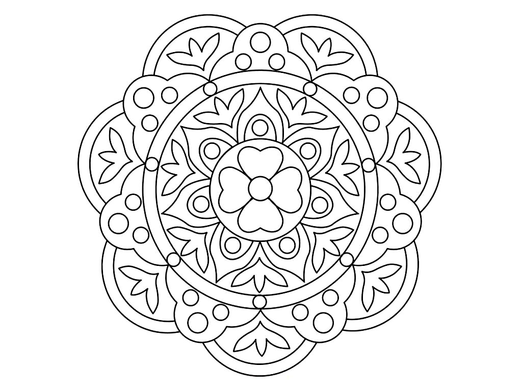 rangoli coloring pages - printable rangoli coloring pages