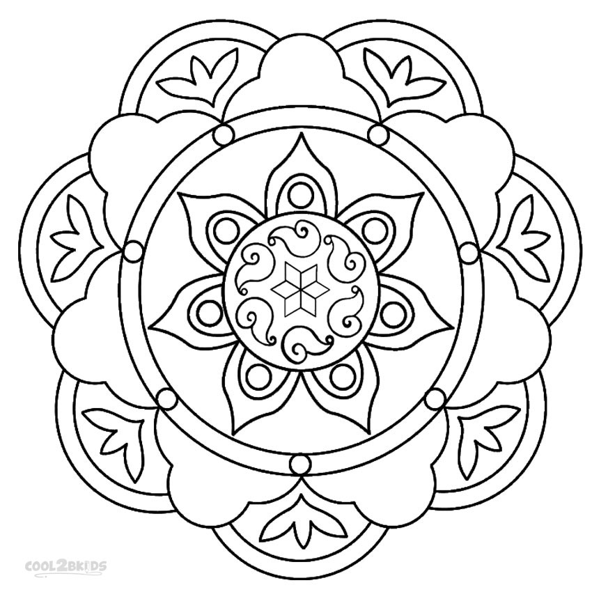 rangoli coloring pages - rangoli patterns