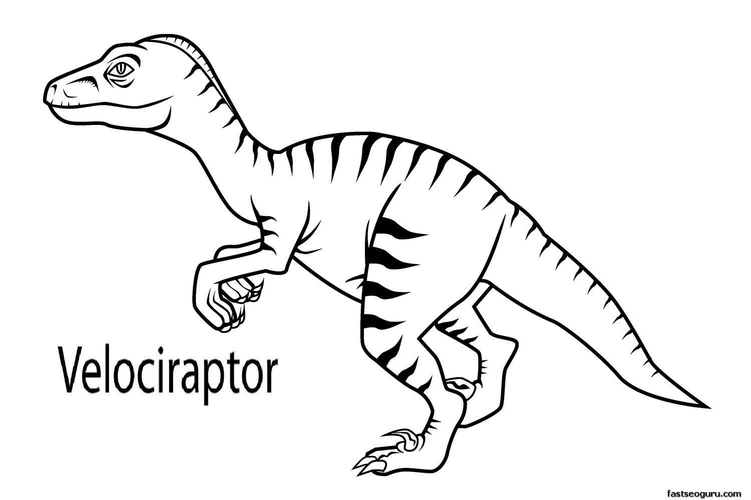raptor coloring pages - q=raptors