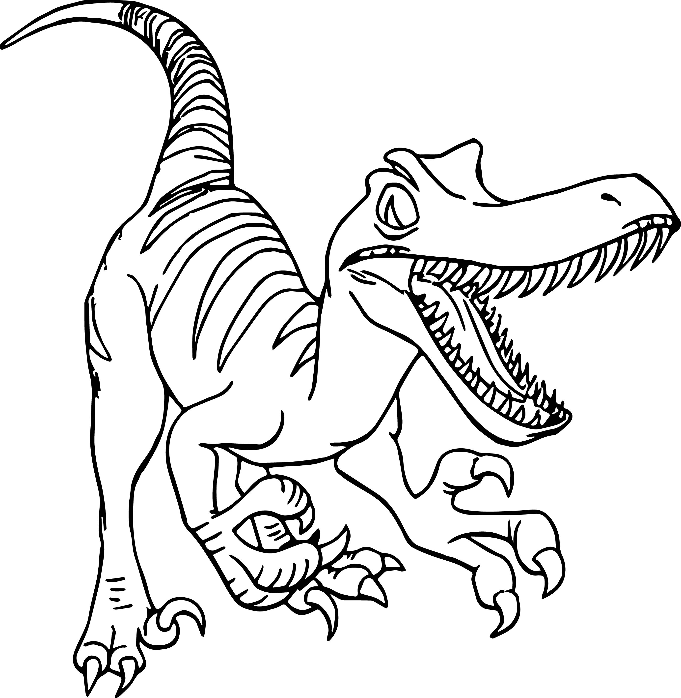 raptor coloring pages - raptor disney dinosaur coloring page
