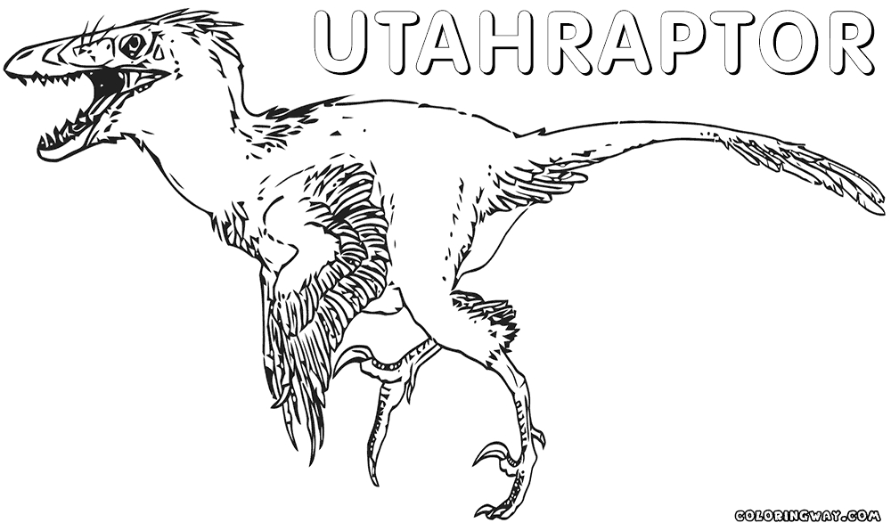 raptor coloring pages - utahraptor coloring pages sketch templates