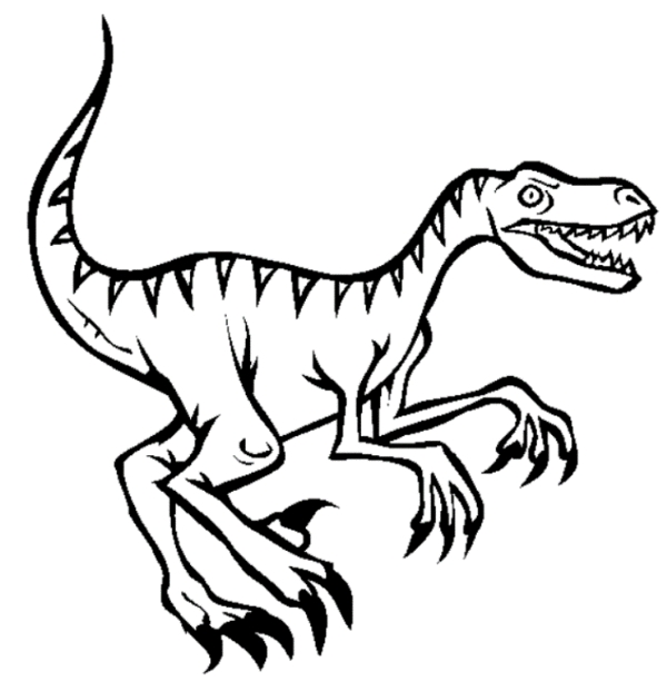raptor coloring pages - velociraptor coloring page