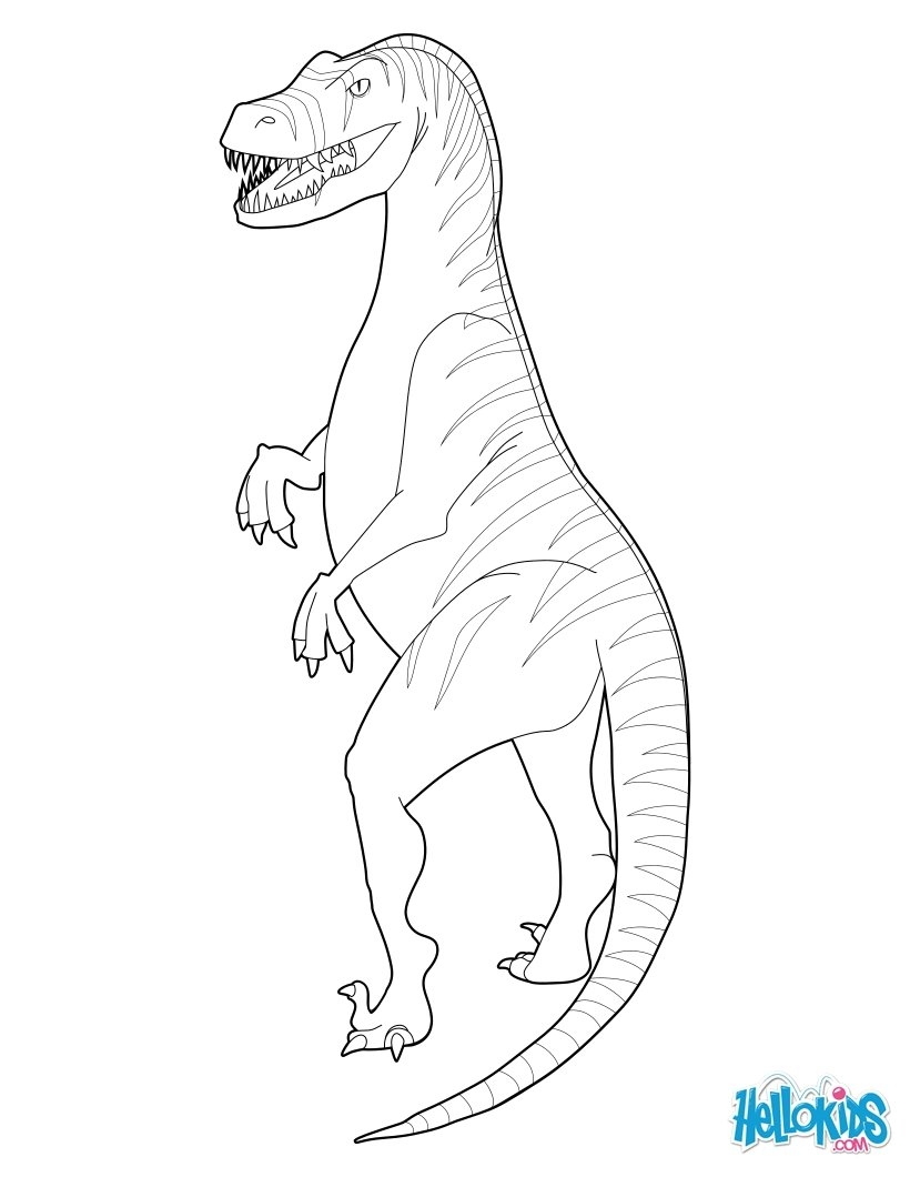 raptor coloring pages - velociraptor