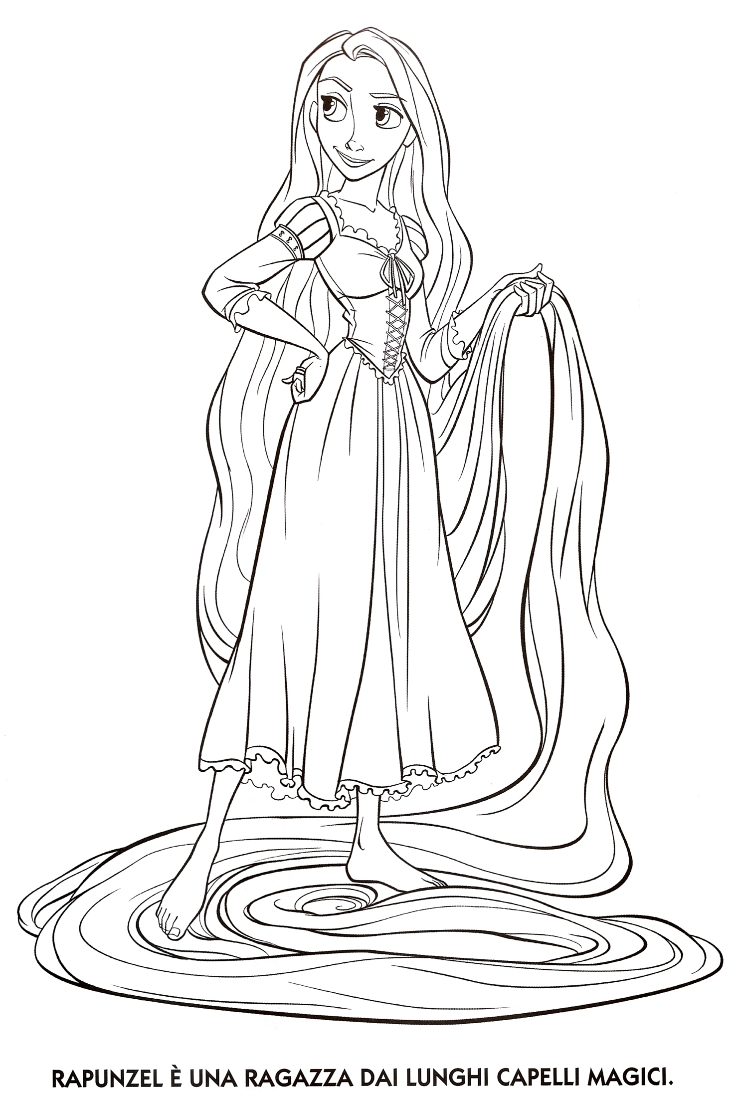 rapunzel coloring pages - index