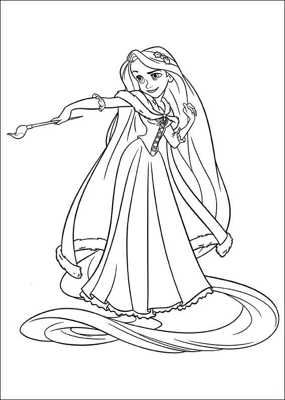 rapunzel coloring pages - princess rapunzel tangled disney