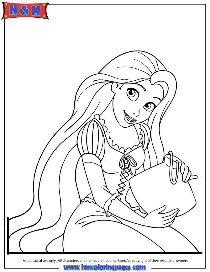 rapunzel coloring pages - r=rapunzel 12