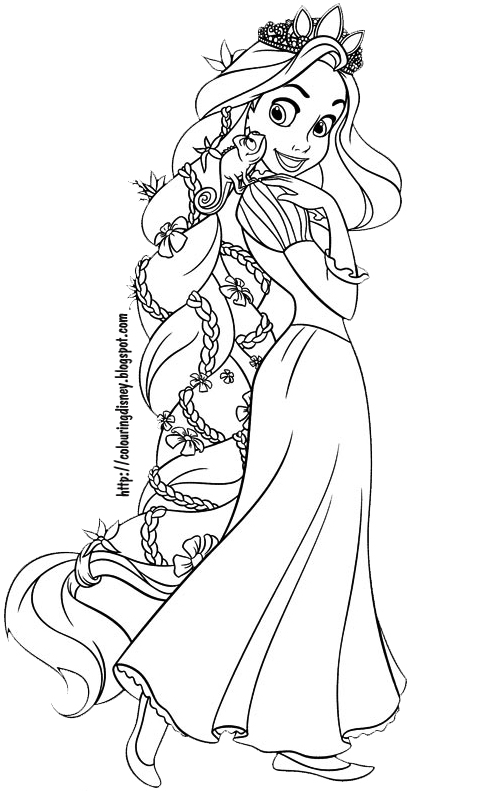 Rapunzel Coloring Pages - Rapunzel Coloring Pages