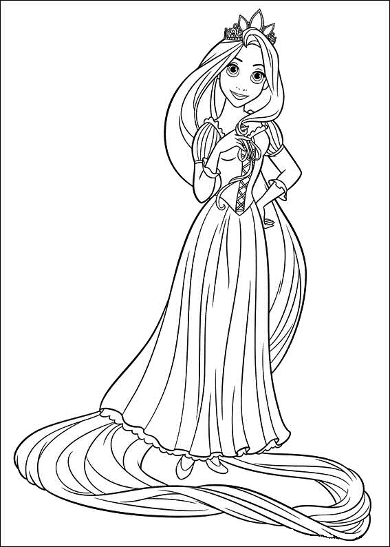 rapunzel coloring pages - rapunzel tangled coloring pages