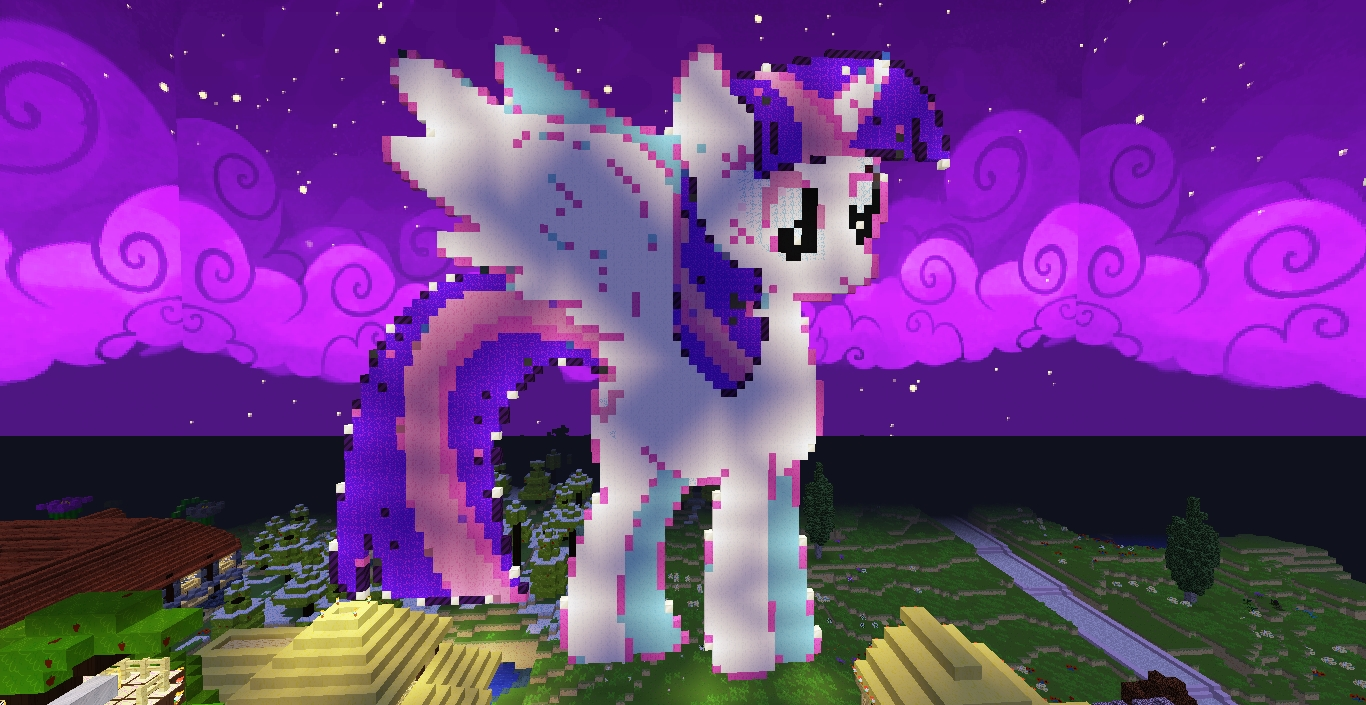 Rarity Coloring Pages - Pixelart My Little Princess Twilight Sparkle with