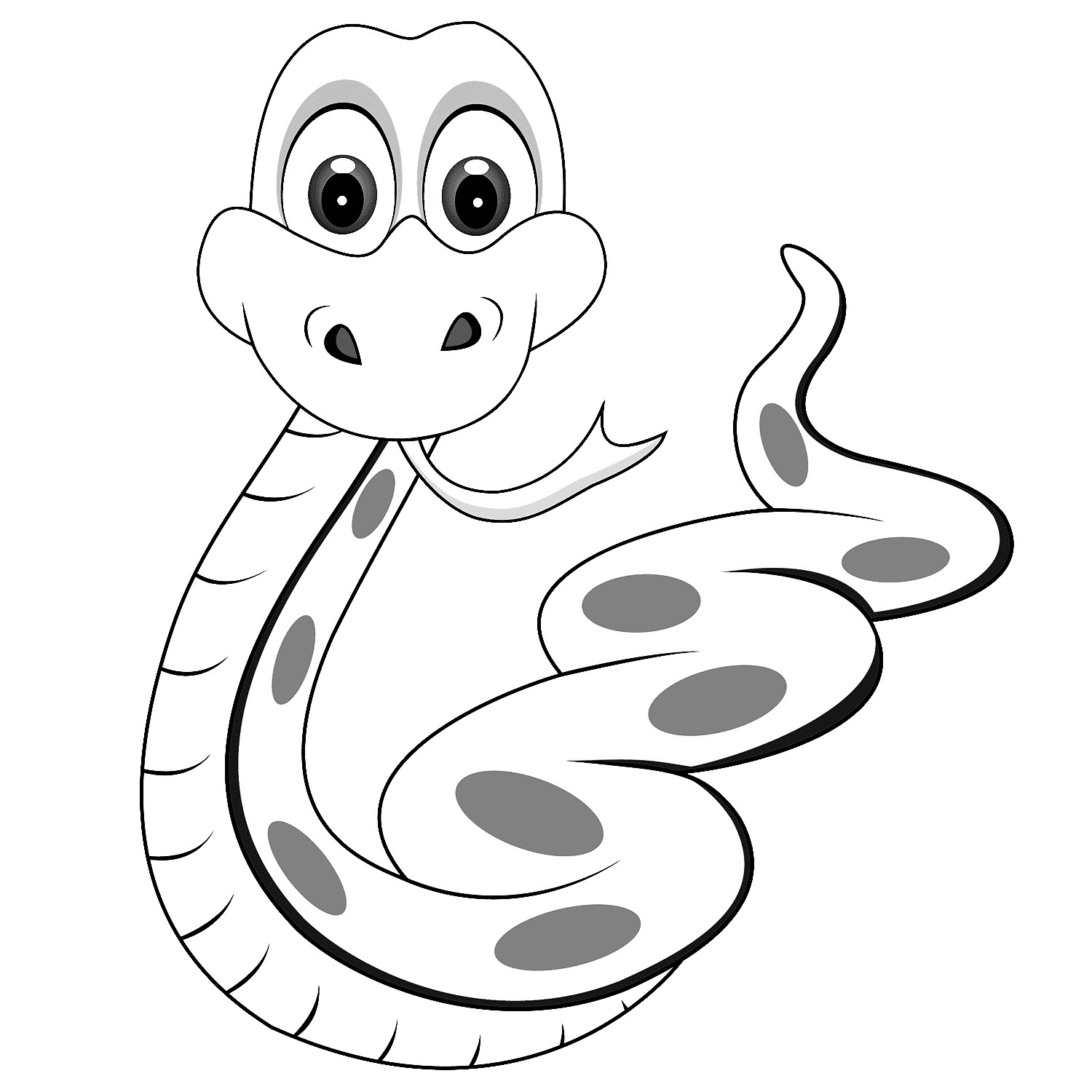 rattlesnake coloring page - printable snake coloring pages