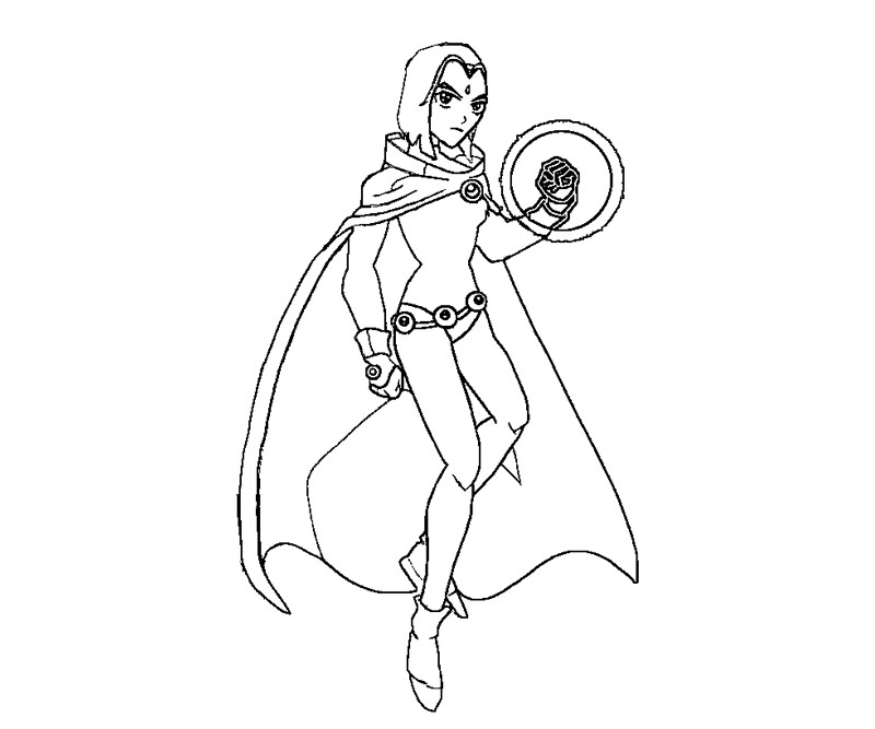 raven coloring pages - r=teen titans go raven