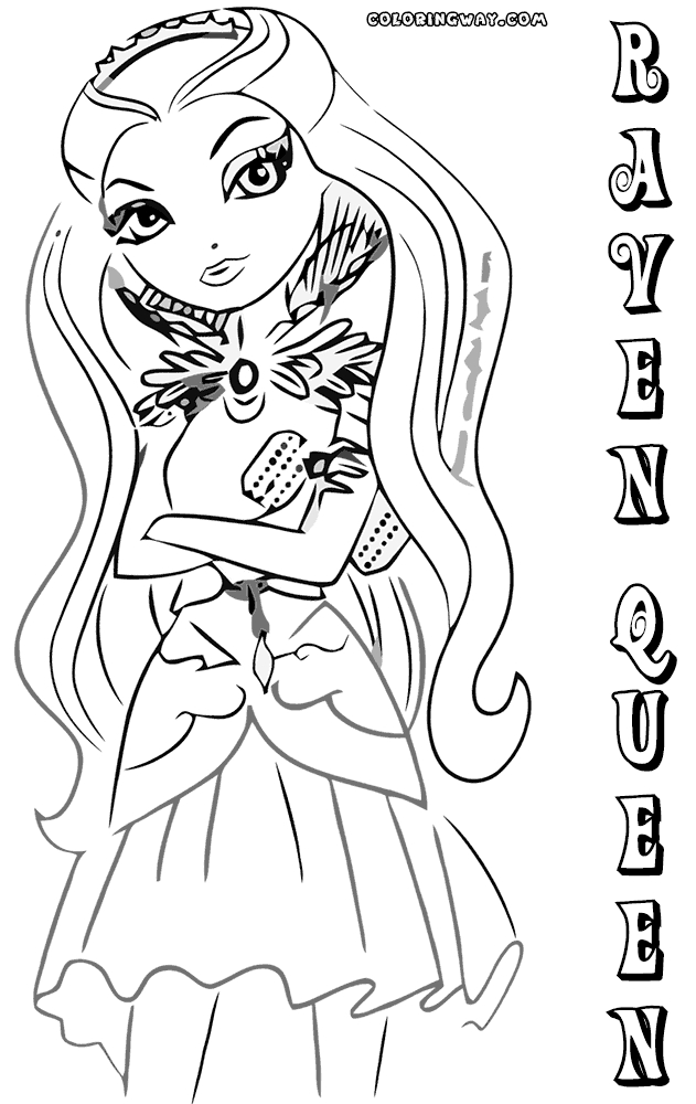 raven coloring pages - raven queen coloring pages