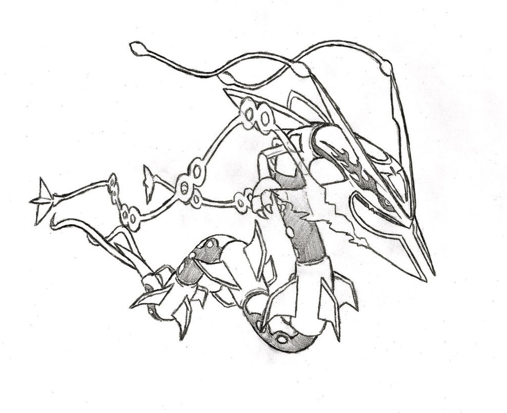 rayquaza coloring pages - pokemon mega rayquaza coloring page printable sketch templates