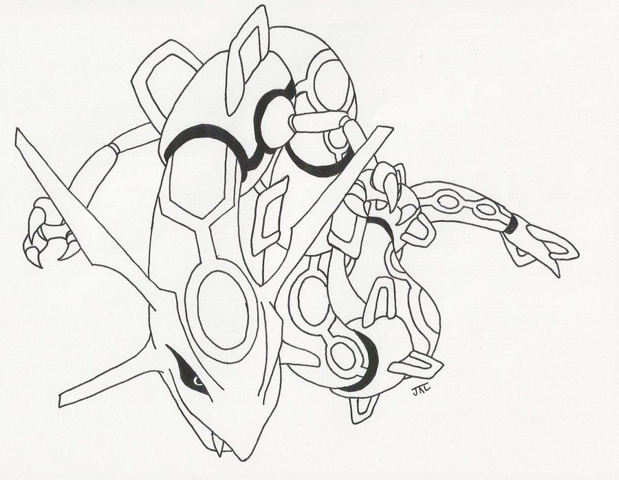 25 Rayquaza Coloring Pages Compilation