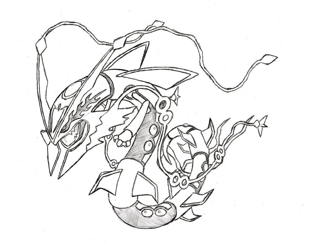 rayquaza coloring pages - pokemon mega rayquaza coloring pages images