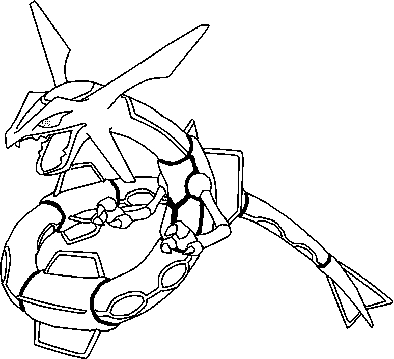 rayquaza coloring pages - pokemon rayquaza coloring pages images