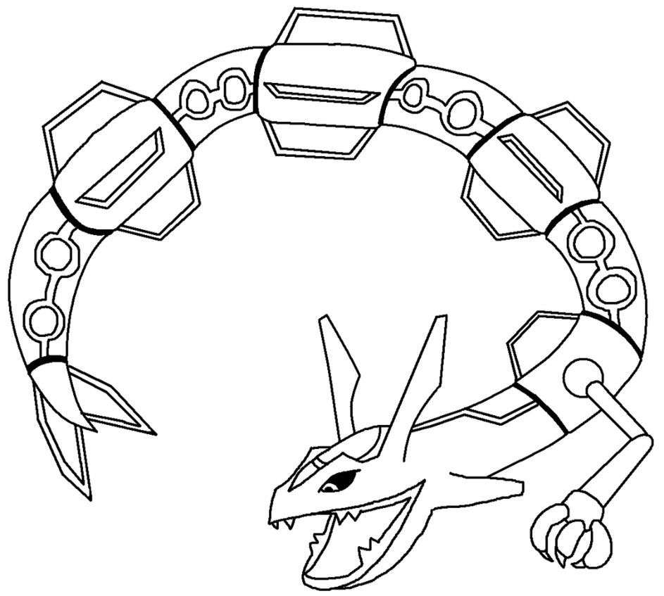 Rayquaza Coloring Pages - Pokemon Rayquaza Coloring Pages