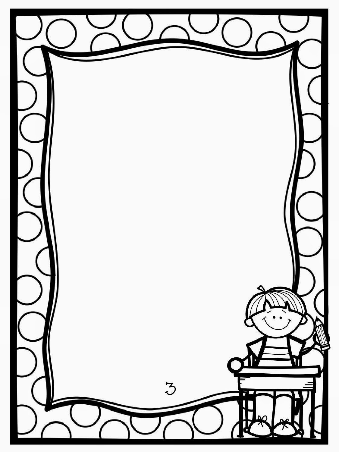 reading coloring pages - book page border