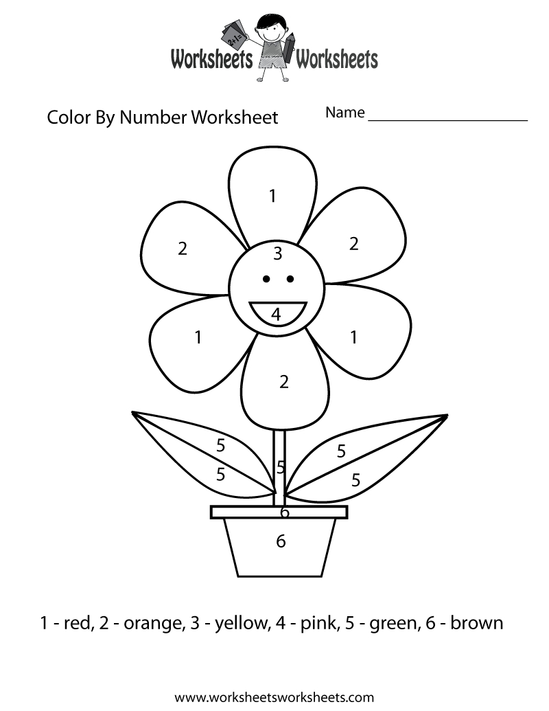 reading coloring pages - color by number preschool