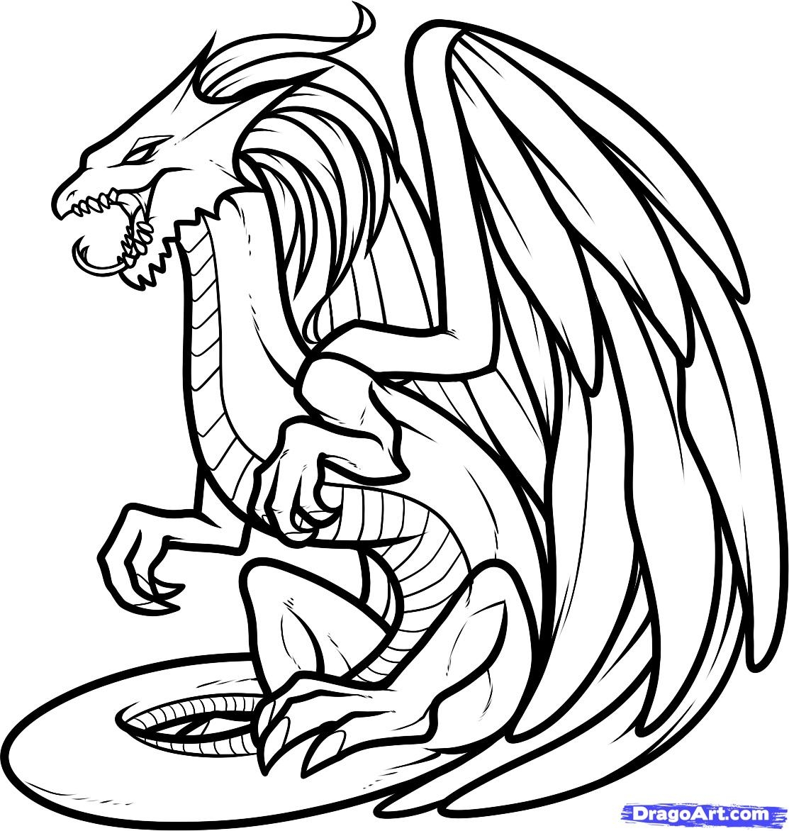 realistic dragon coloring pages - dragon coloring pages realistic