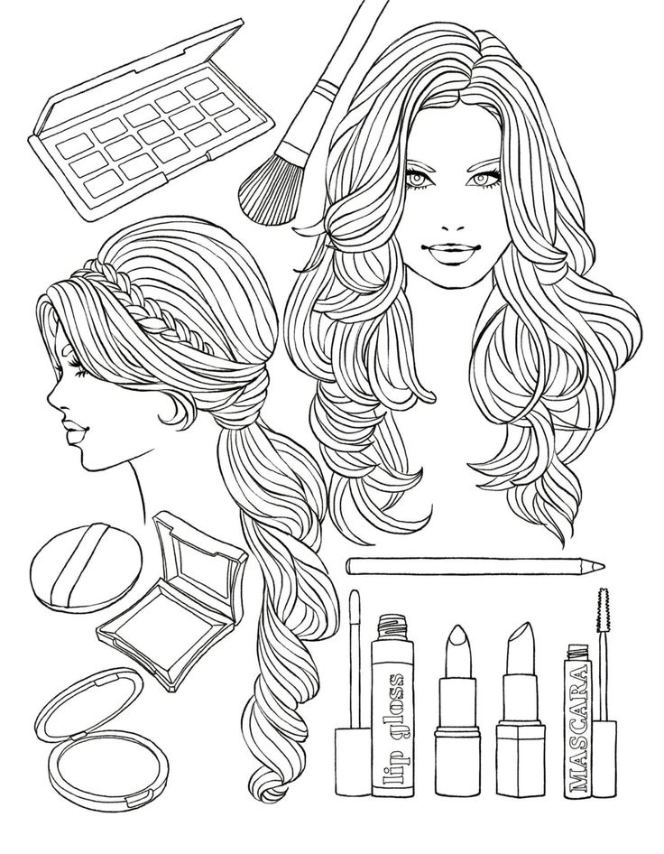 recolor coloring pages - coloring fashion