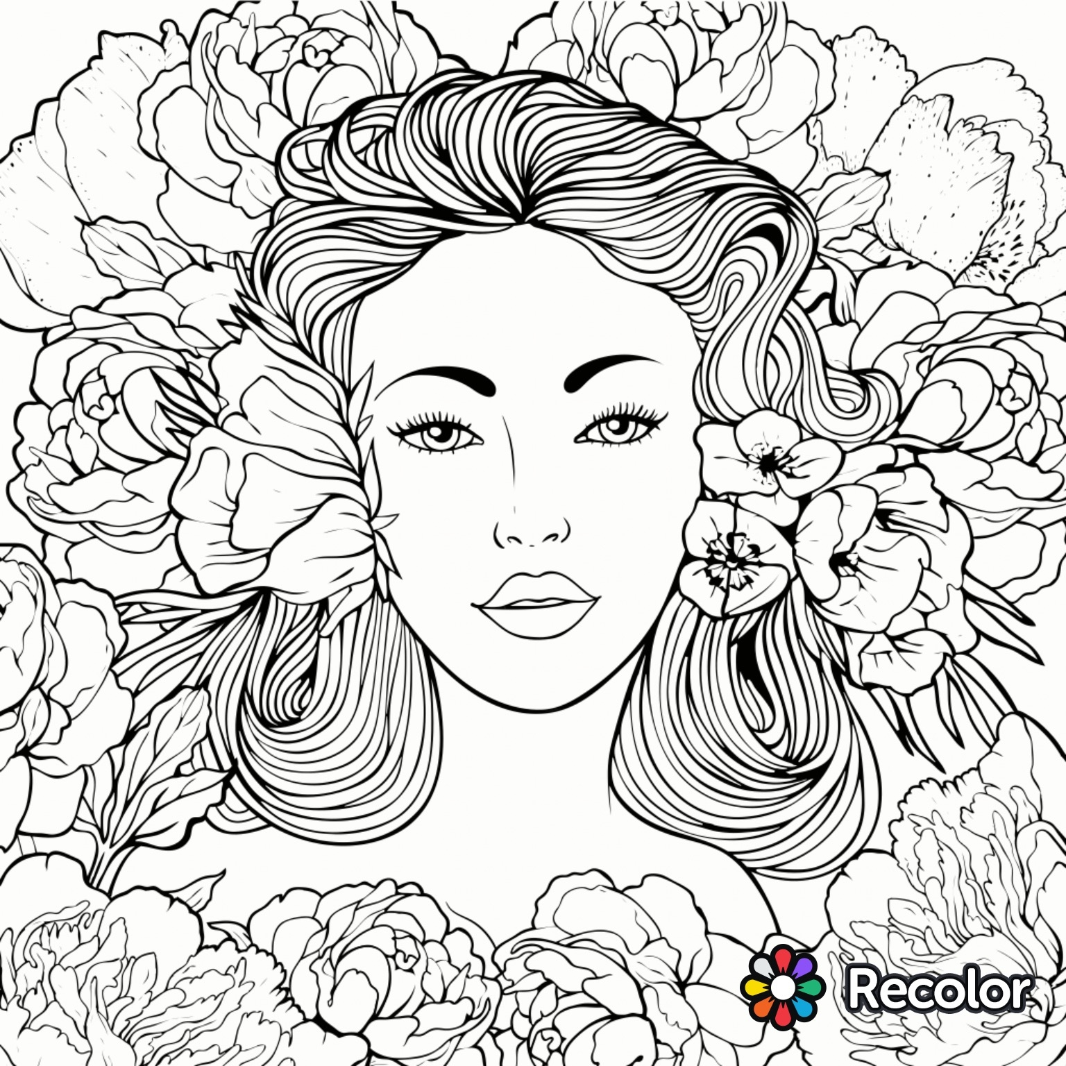 recolor coloring pages -