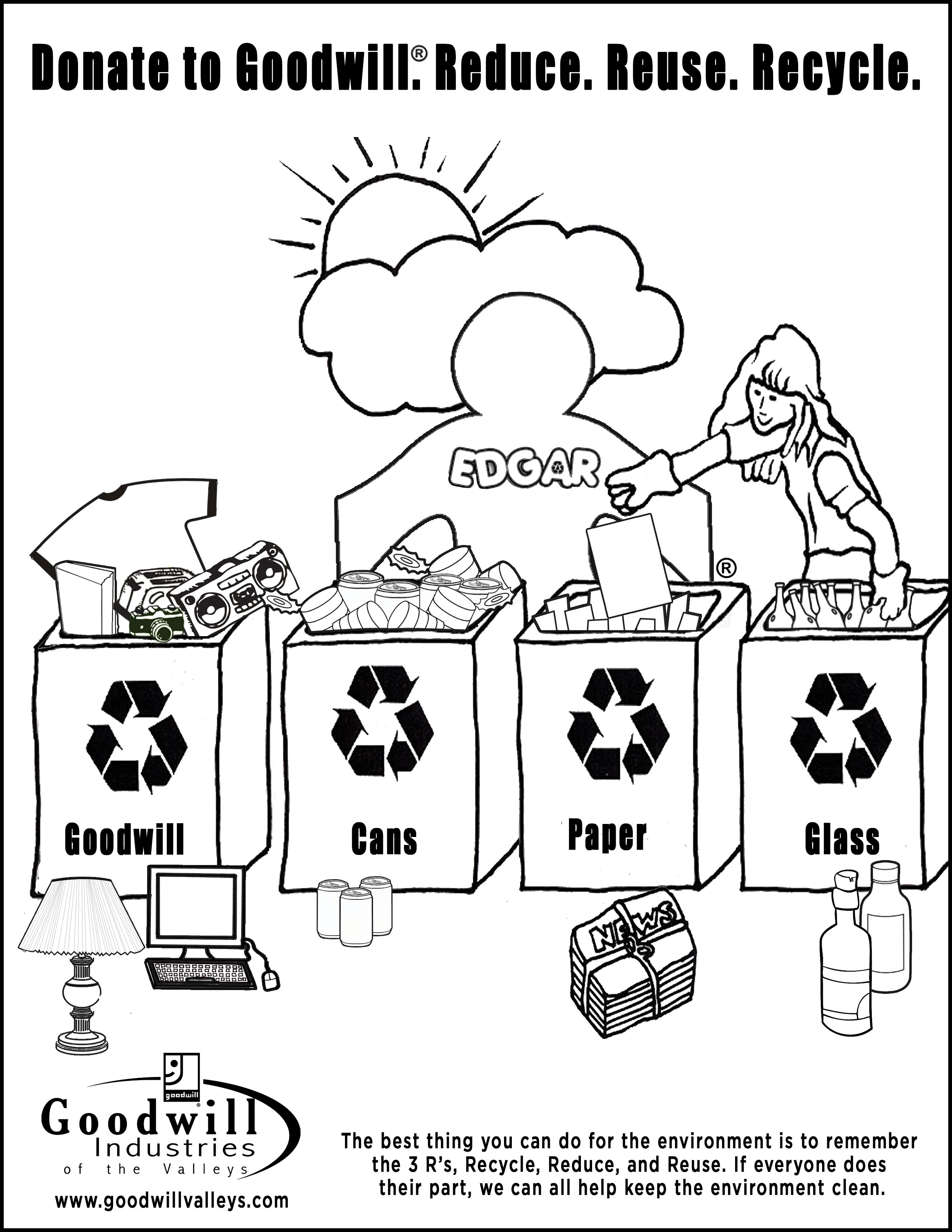 21 Recycling Coloring Pages Collections | FREE COLORING ...