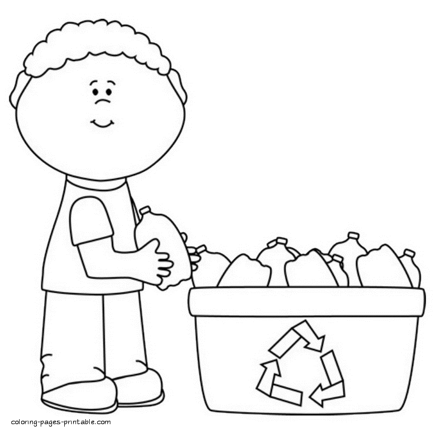 recycling coloring pages - recycle coloring pa ml