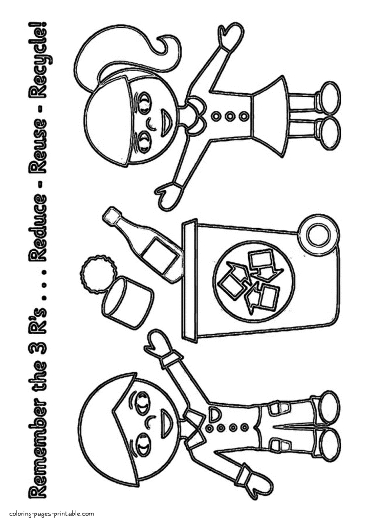 21 Recycling Coloring Pages Collections | FREE COLORING PAGES - Part 3