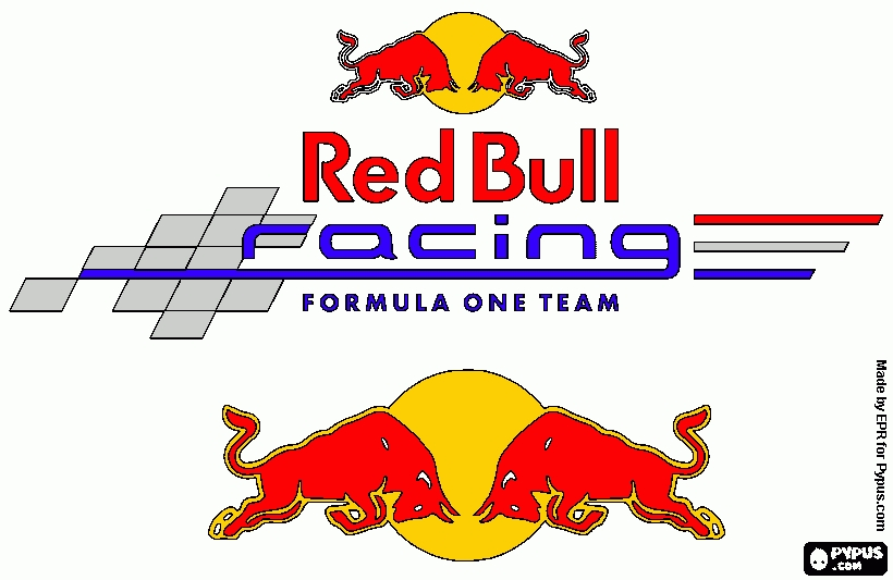 red coloring page - coloring page red bull racing f1