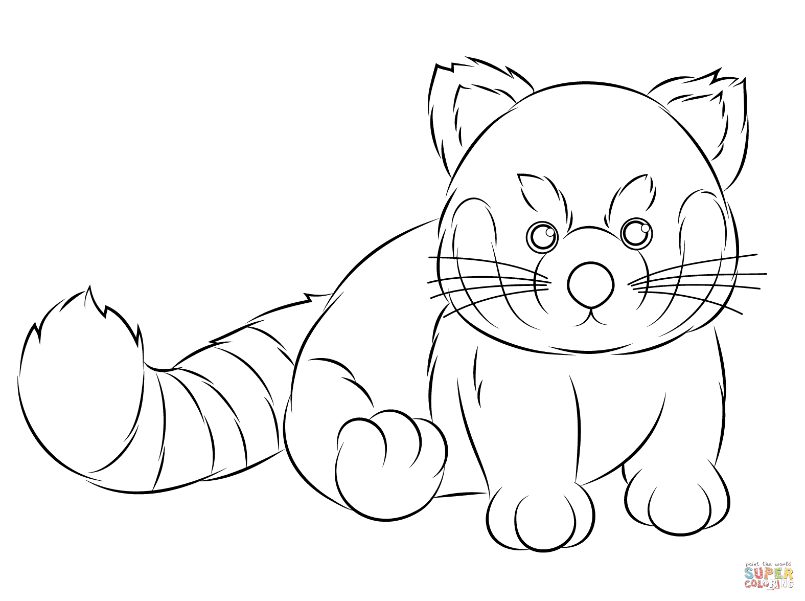 Red Panda Coloring Page - Webkinz Red Panda Coloring Page