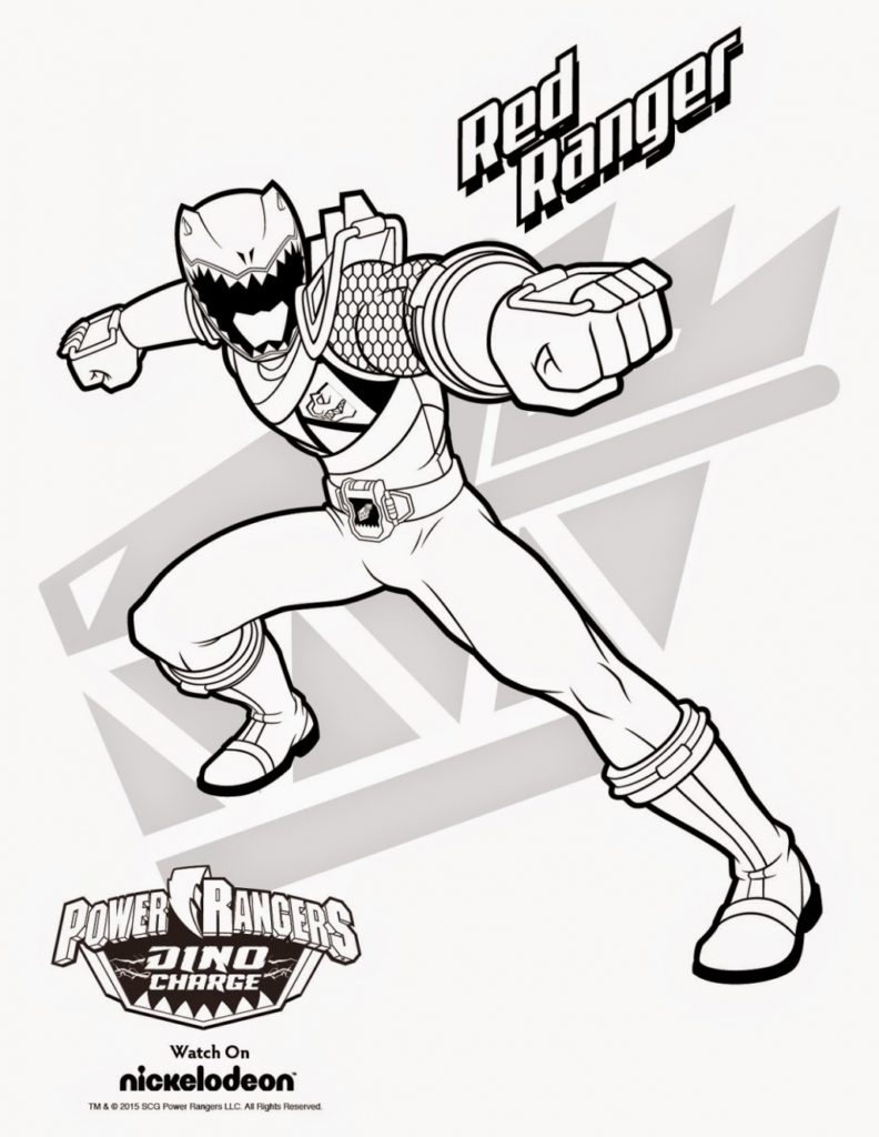 Red Power Ranger Coloring Page - for Kids Download Red Power Ranger Coloring Pages 14 About