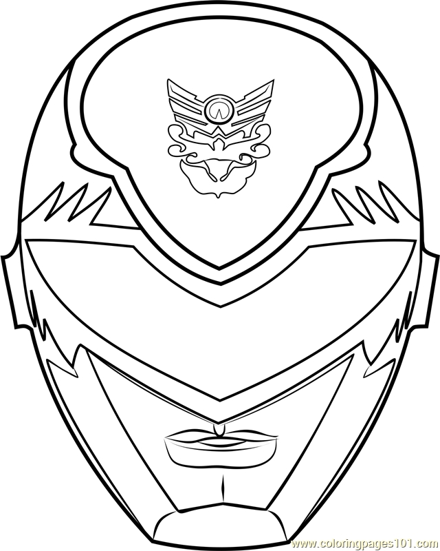 red power ranger coloring page - power ranger mask coloring page