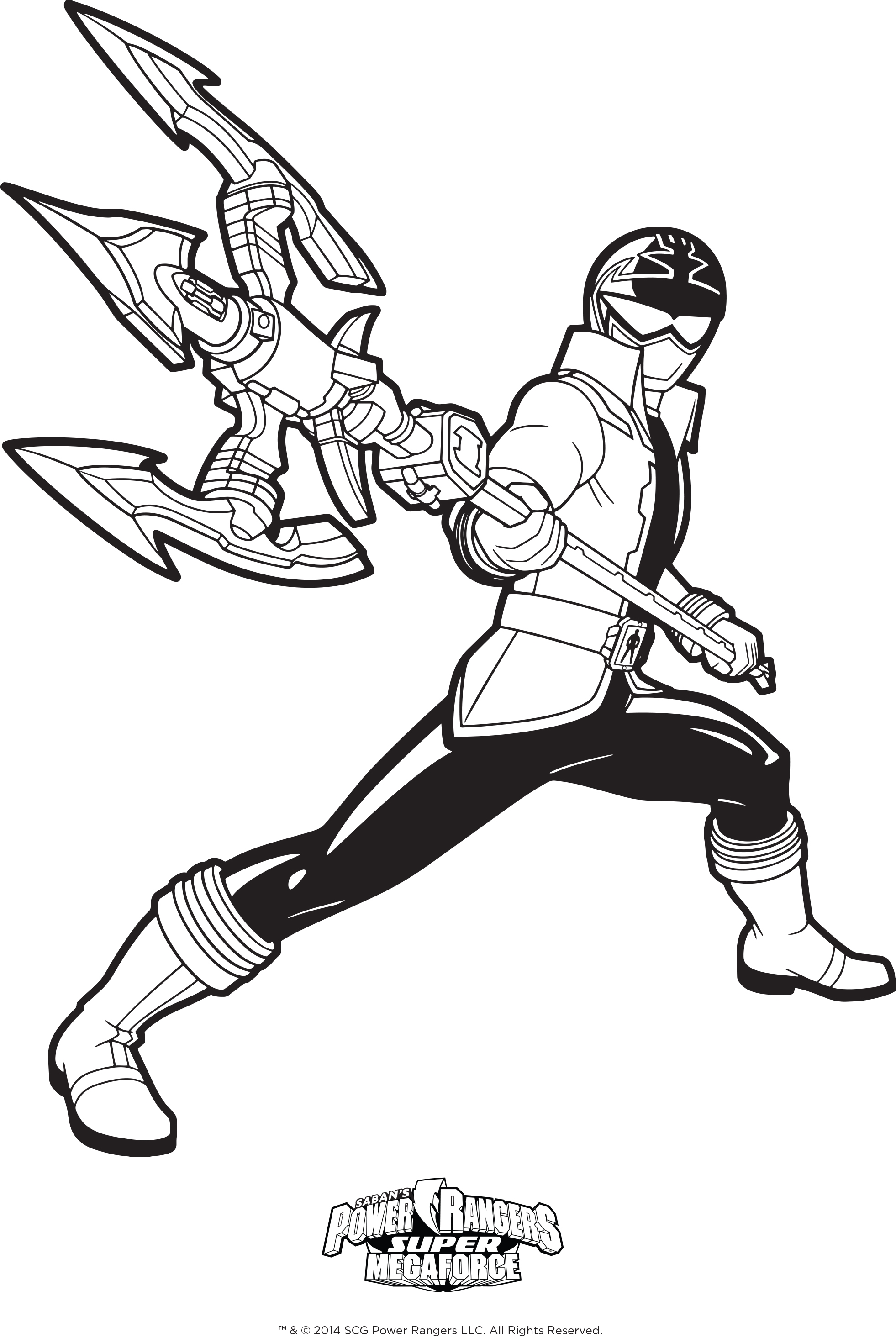 red power ranger coloring page - power rangers coloring pages