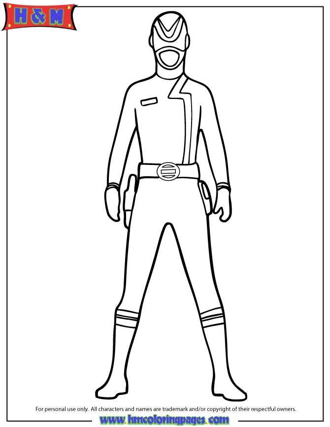 red power ranger coloring page - red power ranger