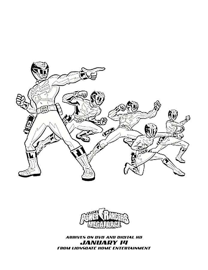 red power ranger coloring page - red power rangers coloring pages