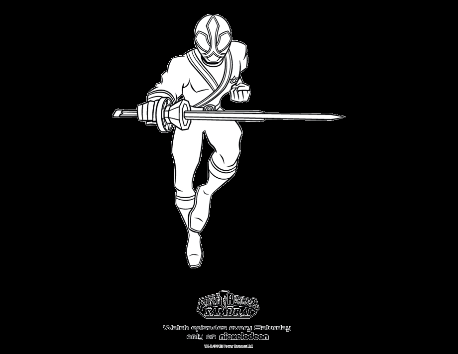 red power ranger coloring page - red samurai ranger coloring pages