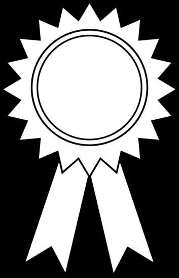 red ribbon week coloring pages - award ribbon outline 921