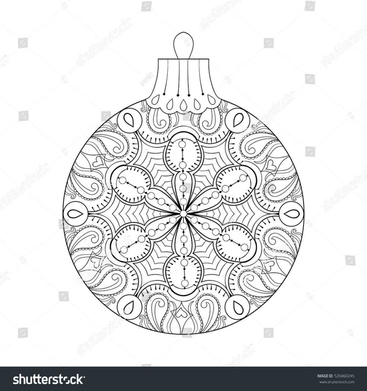 red ribbon week coloring pages - vintage christmas ornament drawing