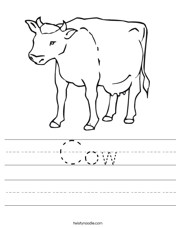religious coloring pages - cow 2 worksheet