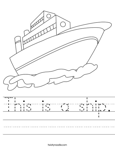 religious coloring pages - this is a ship worksheet