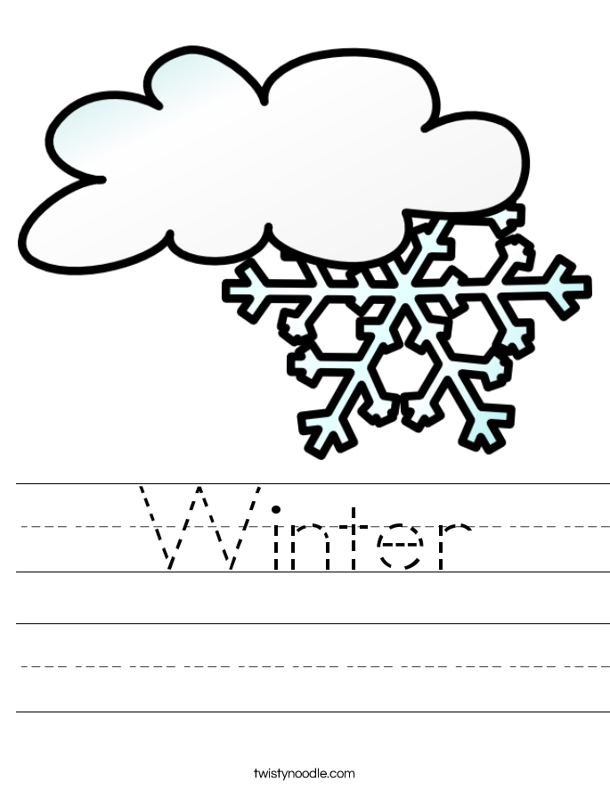 religious coloring pages - winter 7 worksheet