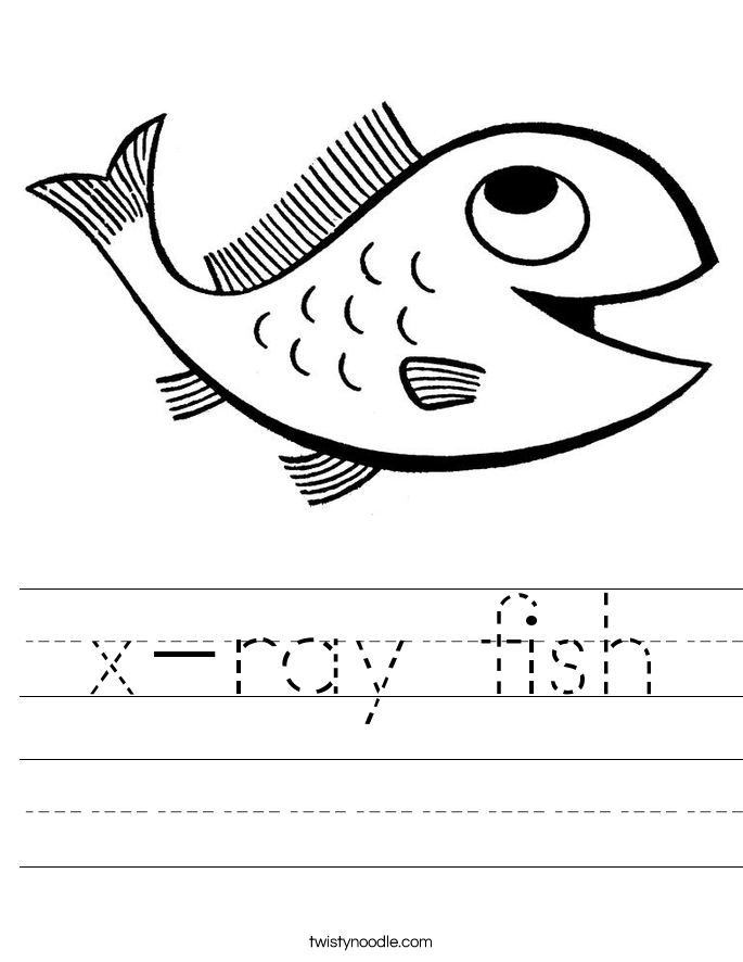 religious coloring pages - x ray fish worksheet