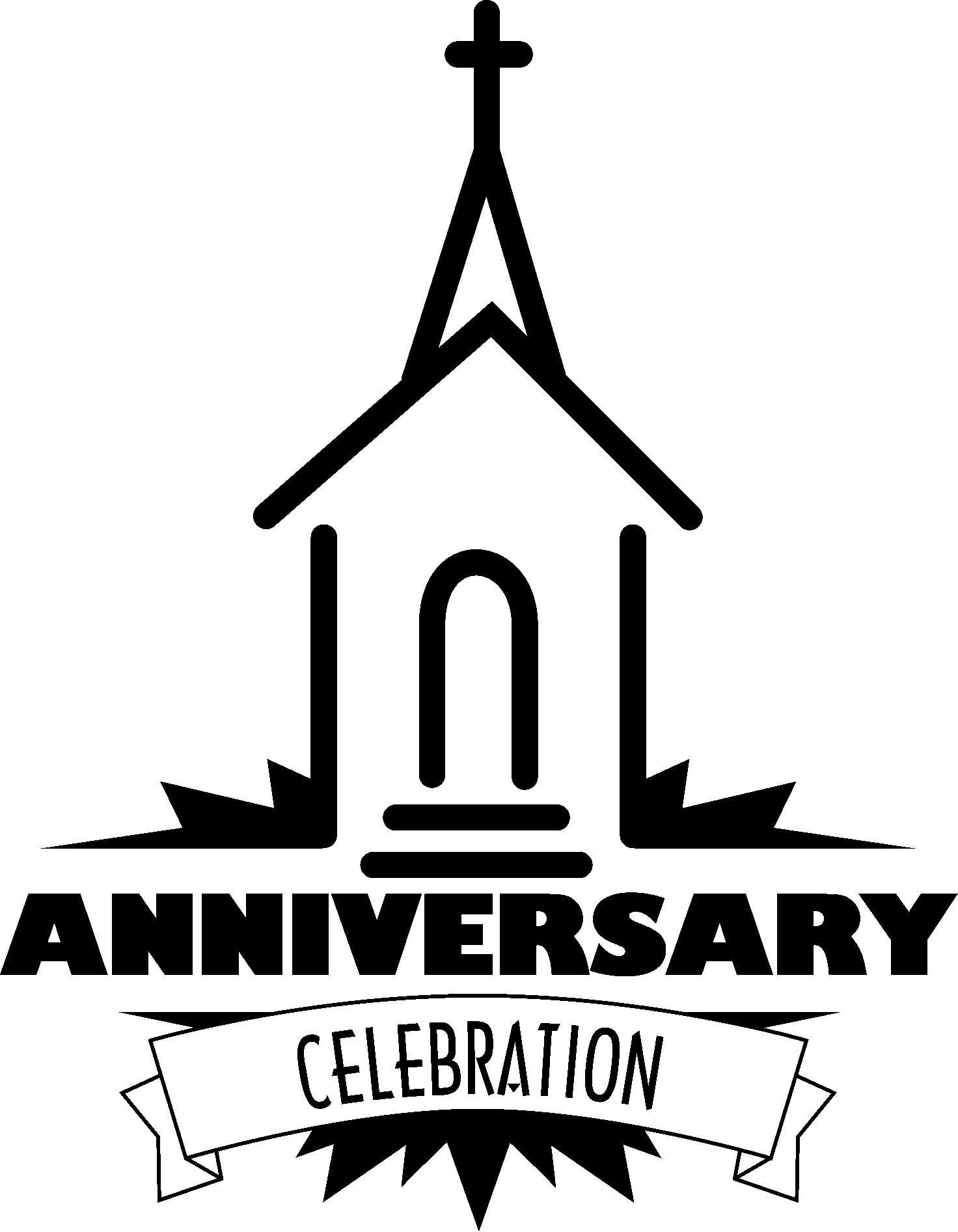 religious easter coloring pages - church anniversary clipart