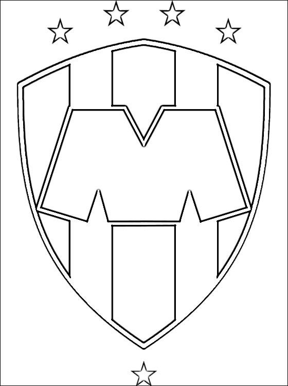 religious easter coloring pages - logo of monterrey football team