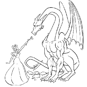 reptile coloring pages - coloriage a dessiner dragon rigolo